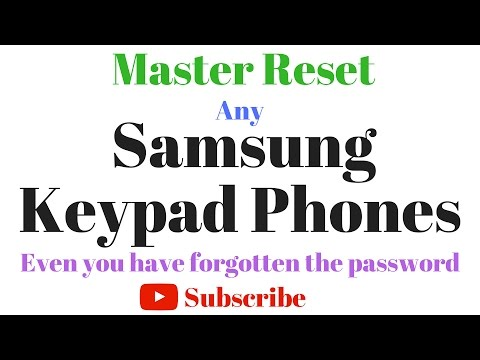 How to Master Reset in Samsung Keypad Phone If forgot Password