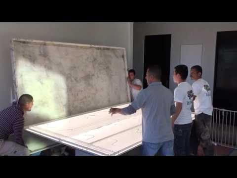 How to install granite countertops with led lights