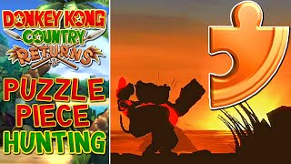 Donkey Kong Country Returns Wii (100%) - Puzzle Piece Grinding (World 1 - 5)