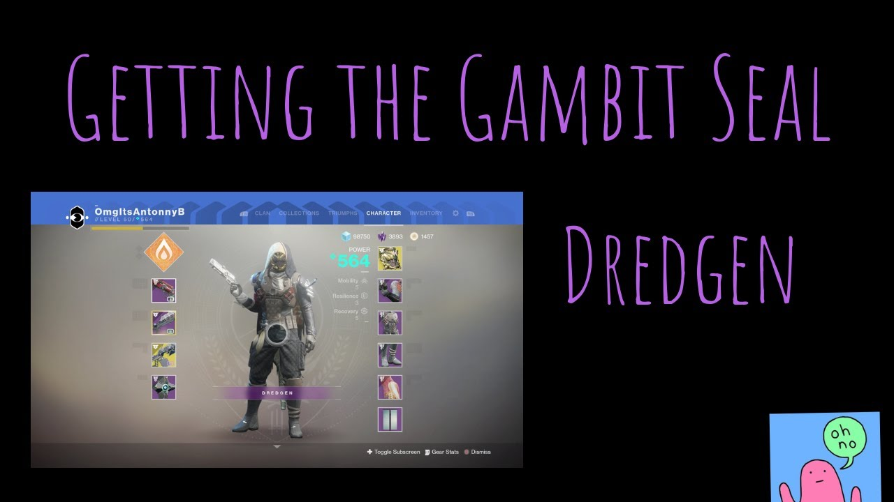 Getting The Gambit Seal (Destiny 2)
