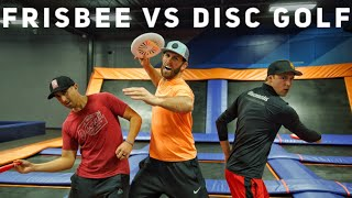 Frisbee vs. Disc Golf Trick Shot Battle | Brodie Smith, Paul McBeth, & Simon Lizotte
