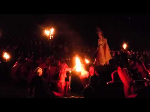 Beltane, Edinburgh 2015, April 30th, Calton Hill, celebration, fire, dancing, painted, performance, from YouTube · Duration:  47 seconds