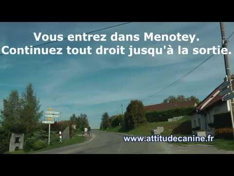 Plan d'accès au terrain d'éducation de Menotey (10 min de Dole - Jura 39) poster