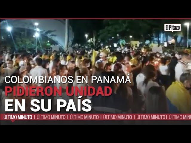 Colombianos en Panamá encendieron velas para pedir paz y unidad en Colombia