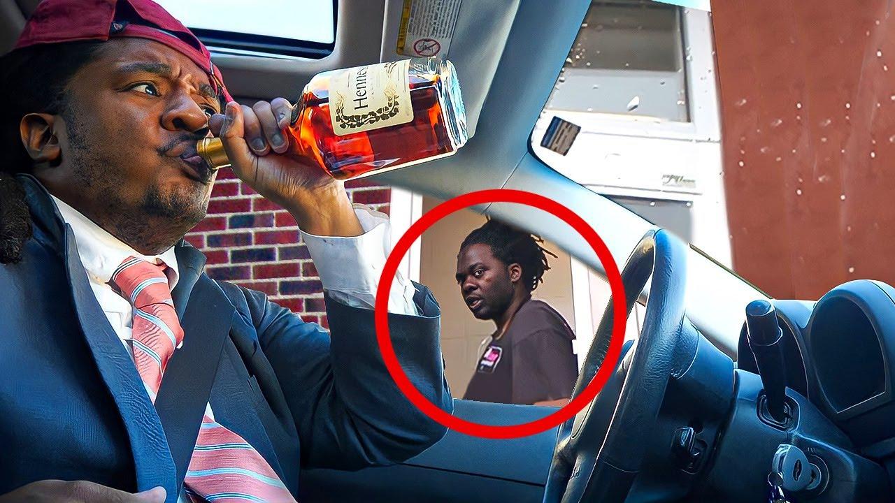 Download Iced Tea Henny Bottle Drive Thru Prank