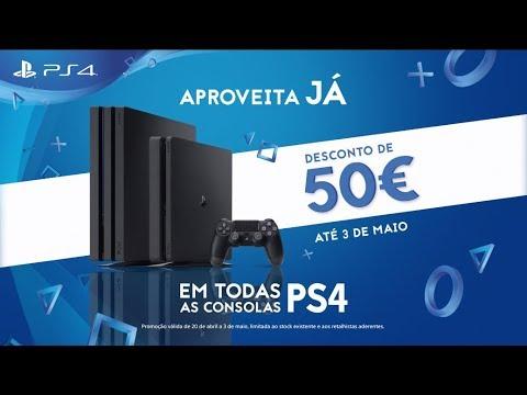 Aproveita já: desconto de 50€ em todas as PS4!   PS4