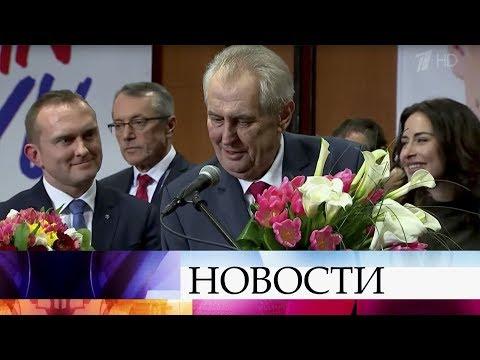 Владимир Путин поздравил Милоша Земана с переизбранием на пост президента Чехии.