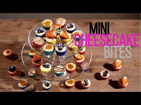 How to make Mini Cheesecake bites - Bake Bites