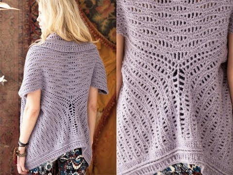 36 Cardi Shawl Vogue Knitting Crochet 2012 Youtube