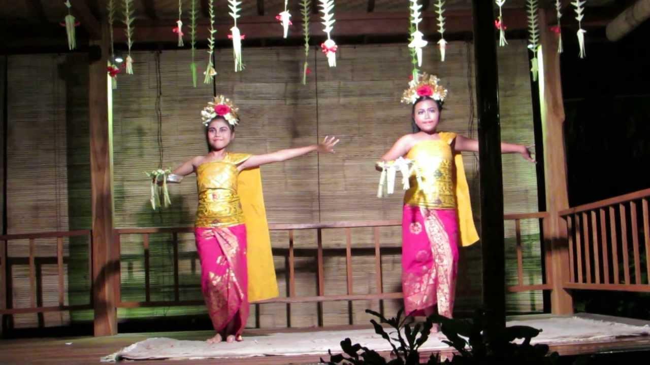 Balinese Dancers Dancing The Welcome Dance Sanur Bali May 2013