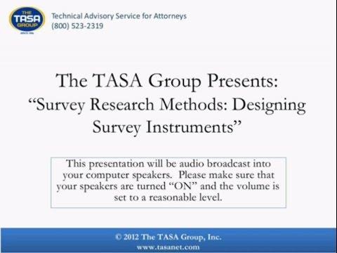Survey Research Methods Designing Survey Instruments