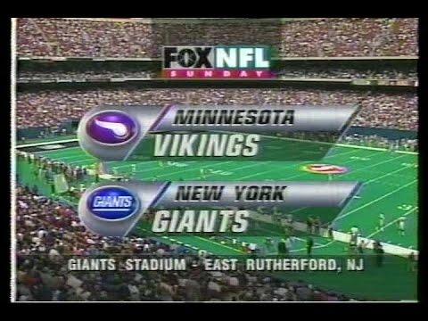 NFL on FOX - 1996 Week 5 Vikings vs Giants - open