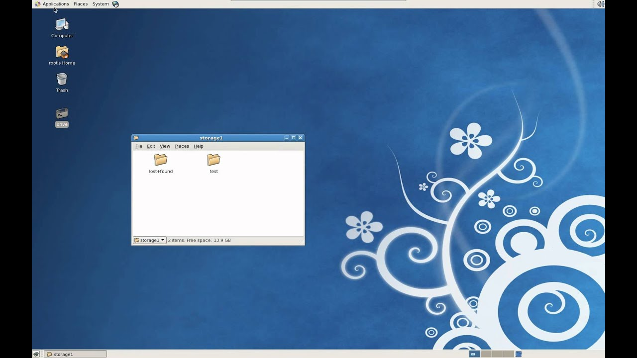 Adding an additional hard drive using a Linux operating system with CentOS