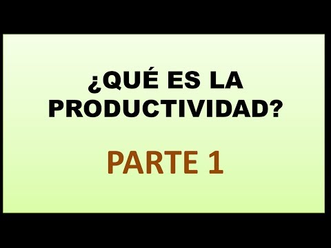 Video 6 - Productividad: Qué es la productividad - YouTube