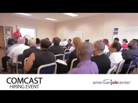 American Job Center Recruitment; StubHub and Comcast