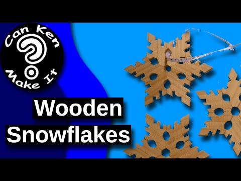 Make Wooden Snowflakes - Easy Cheap and Make Great Ornaments