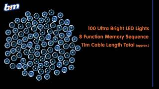Eveready Ultra Bright LED Chaser Lights 100pk - Ice Blue | B&M Stores