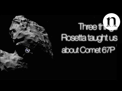 Three things Rosetta taught us about Comet 67P