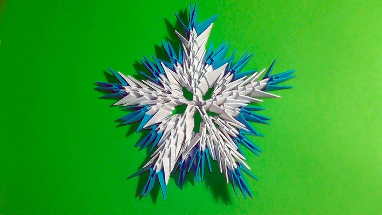 модульное оригами схема ромашек