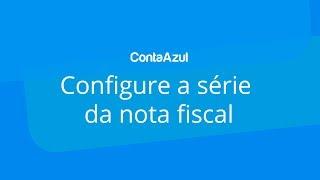 Serie da nota fiscal