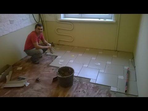 Кафельная плитка на полу в кухне и прихожей (обзор)