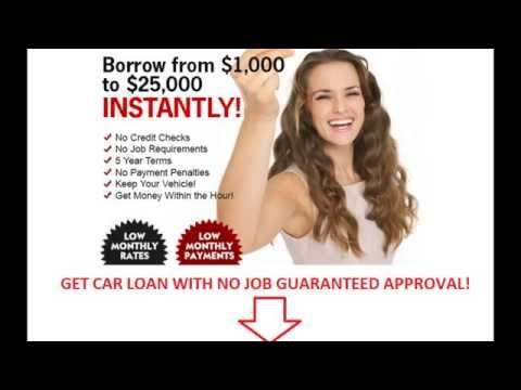 Loans Bad Credit No Job