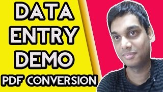 Data entry demo pdf to word | PDF conversion without software | Hindi