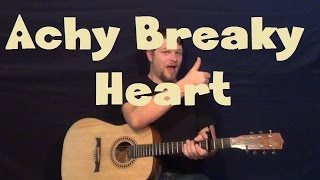 Achy Breaky Heart (Billy Ray Cyrus) Easy Strum Guitar Lesson How to Play Tutorial