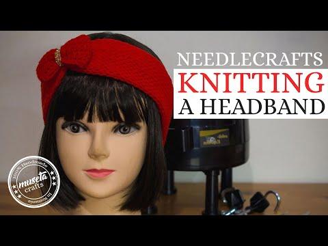 Simple Headband Tutorial Using The Addi Express Knitting Machine | Museta