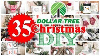 35 Dollar Tree CHRISTMAS DIYs! 🎄 EASY \u0026 CHEAP!