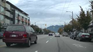 driving in vancouver canada in hd   main street chinatown   improvised jazz bgm south to north