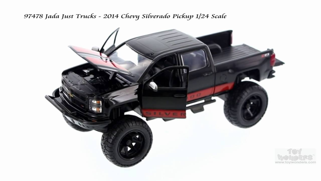 1955 chevy stepside tow truck black jada toys bigtime - 97478 Jada Just Trucks 2014 Chevy Silverado Pick Up 1 24 Scale Youtube
