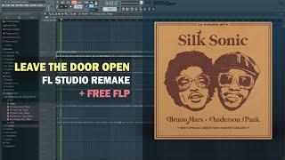 Bruno Mars, Anderson .Paak, Silk Sonic - Leave the Door Open (Instrumental) + Free FLP Remake