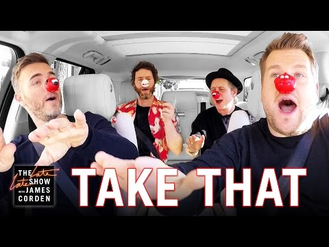Thumbnail: Comic Relief - Take That Carpool Karaoke: UK Red Nose Day Special Edition