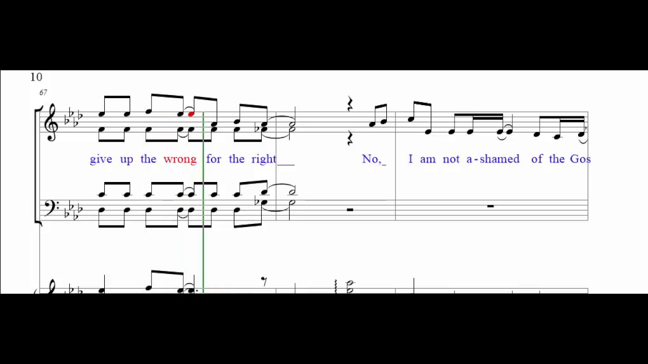 I Am Not Ashamed of the Gospel SATB - Solo w/ Soprano
