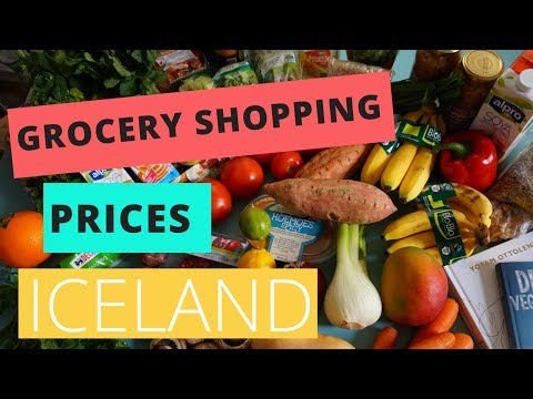 Grocery Shopping Prices in Iceland