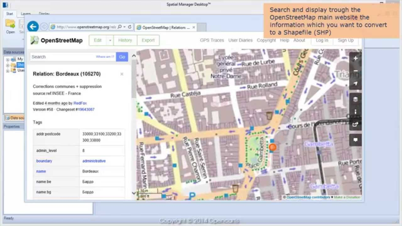 Convert OpenStreetMap data to Shapefiles (SHP) - Spatial Manager Blog