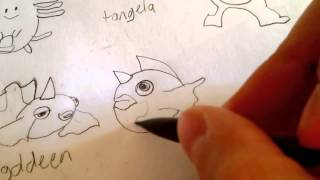 how to draw Pokemons Seaking