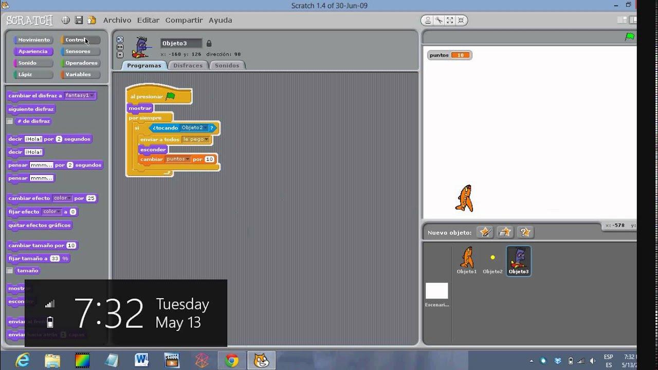 Tutorial para crear el juego de navecitas en Scratch