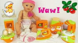 Играем, кормим пупсика Baby Детский игровой набор бытовой техники Обзор игрушки Play set toys kids