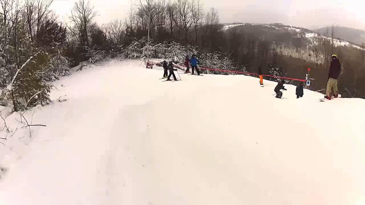 skiing at swain resort - youtube