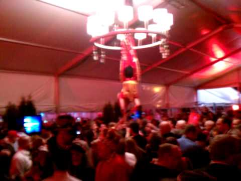 Bartender upside down from chandlers Makers Mark