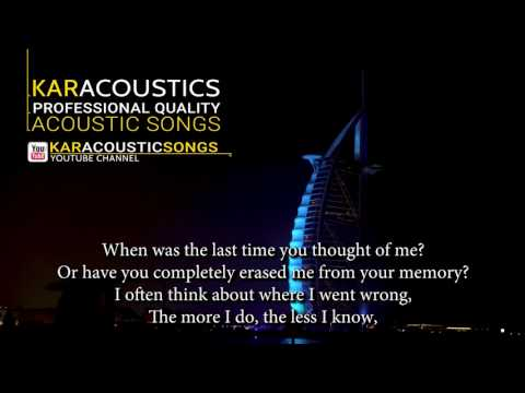 Don't You Remember (acoustic karaoke) - Adele