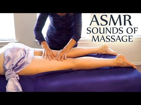 ASMR Massage Sounds Only,  No Talking - Tapping, Skin Brushing, Strokes