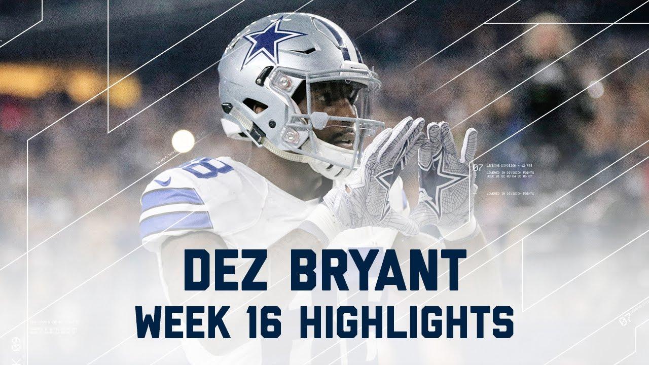 Dez Bryant 3 Total Td Game Lions Vs Cowboys Nfl Week 16 Player Highlights