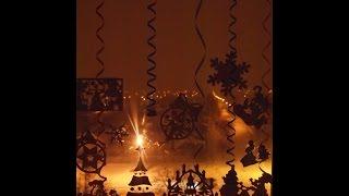 Трафареты на окна новогодние. Как без затрат украсить дом к новому году