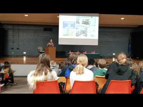 Adam Condit - JA Day Keynote speaker at Chippewa Falls Middle School