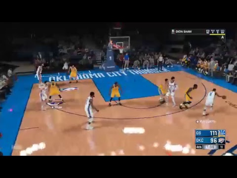 2k18 My career Golden state vs Oklahoma Thunders  [SUB| |LIKE]Comment]  [100] Sub Win  giveaway