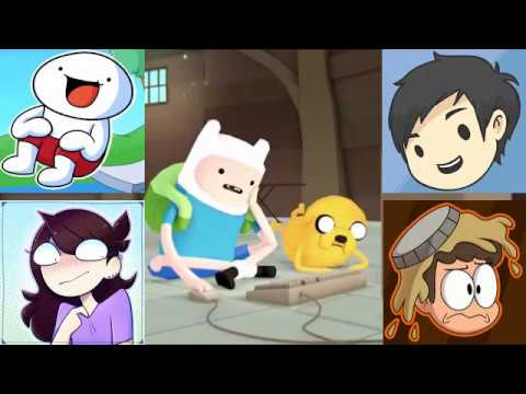 Youtube Portrayed by Adventure Time