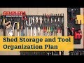 Two Step Shed Storage and Tool Organization Plan